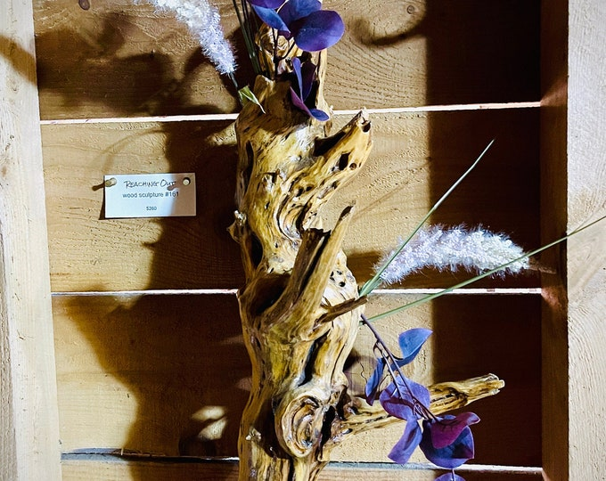 Reaching Out - wood sculpture #161