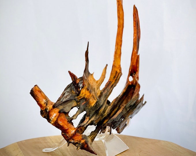 Red Fingers - wood sculpture