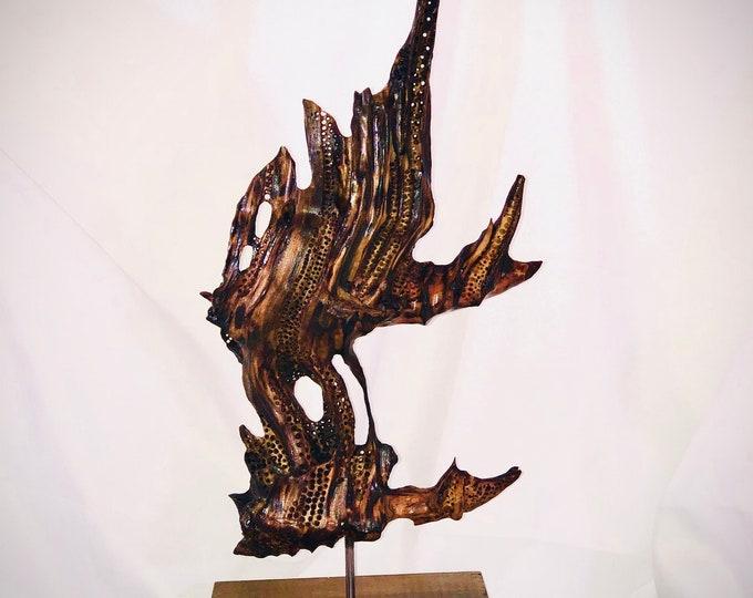 Ducks in Flight - wood sculpture #159