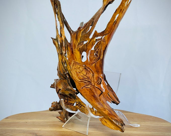 Lacy - abstract wood sculpture