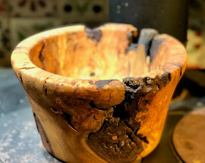 Cherry burl bowl # 141
