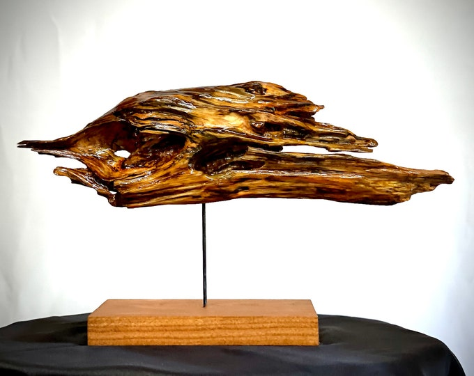 FANCY FISH - abstract wood sculpture