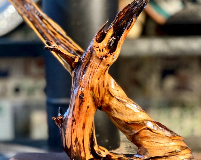 """Wood Sculpture """"Entwined"""" (#224)"""