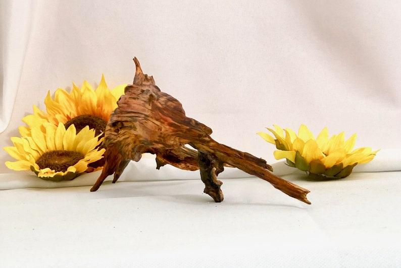 Tripod wood sculpture