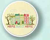 Home Sweet Home Cross Stitch Pattern. Best Seller Apartment Living Modern Simple Cute Counted Cross Stitch Pattern. PDF Instant Download