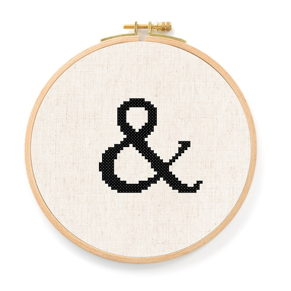 And Symbol Ampersand Cross Stitch Pattern Modern Simple Cute Etsy