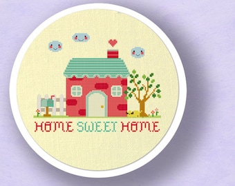 Our Sweet Home Cross Stitch Pattern. Home Sweet Home Best Seller Modern Simple Cute Counted Cross Stitch Pattern. PDF File. Instant Download