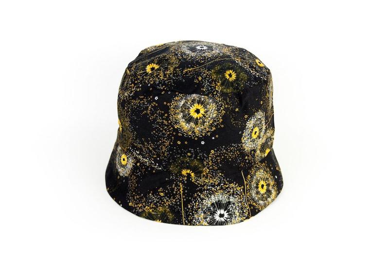 Chemo Hat Woman Resort Wear Womans Black Bucket Hat Music Festival Clothing
