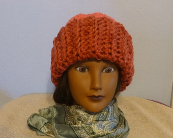 85ccf752a72 Adult Teen Hat Womens Warm Winter Hat Crocheted-One Size Fits Most