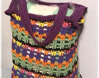 Tote Bag Market Bag Shopping Bag Mixed Colors Cotton