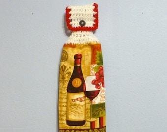 Kitchen Towel - Wine Bottle/ Wine Glass