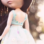Magical Summer Set Mint - Tulle skirt with flower sequins, underwear and socks for Blythe doll - by Icantdance