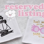 HP inspired tops - Two vinyl printed tops for MSD slim dolls - by Icantdance