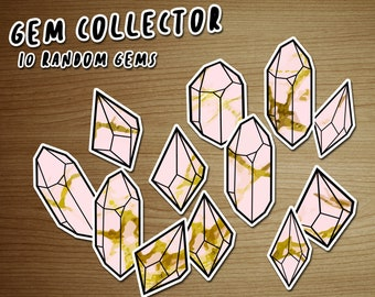 Decals / Stickers pack PINK GEMS - removable and repositionable! - by icantdance