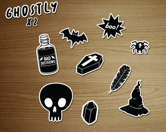 Decals / Stickers pack GHOSTLY - removable and repositionable! - by icantdance