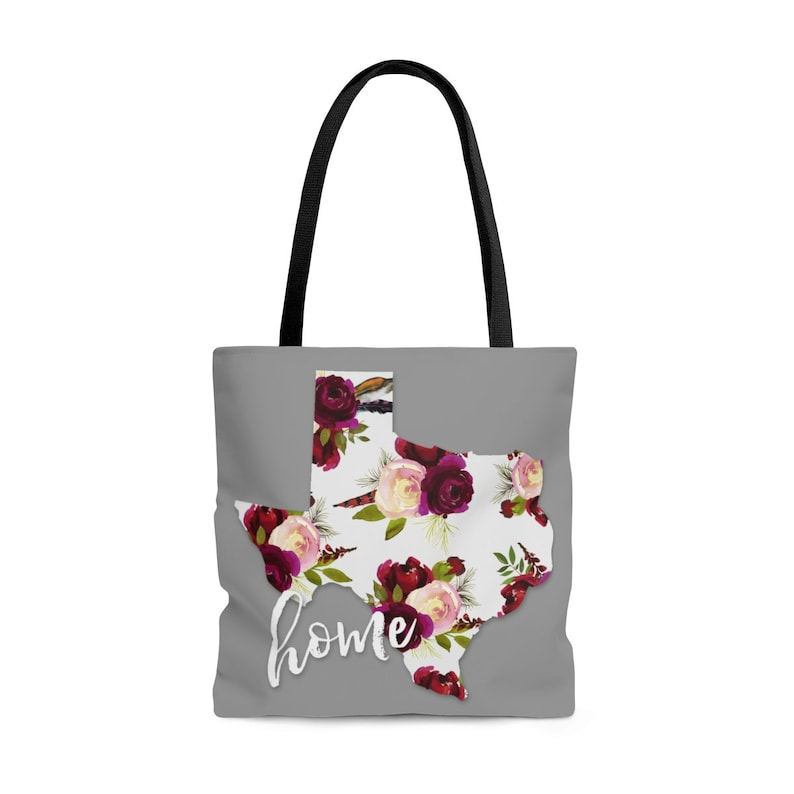 Texas Home Floral Boho Tote Bag Bible Bag Bible Study Library Book Shopping Gift Secret Sister Military College