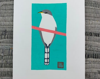 100 Days of Birds Original Artwork: #71 Yellow-billed Cuckoo