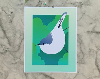 Pygmy Nuthatch | 8x10 Original Art Print