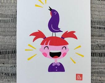 100 Days of Birds Original Artwork: #9 Chachalaca