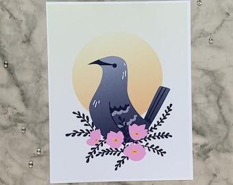 Mockingbird   8x10 Original Art Print