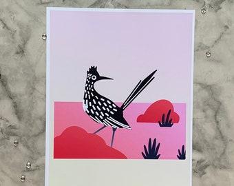 Roadrunner   8x10 Original Art Print
