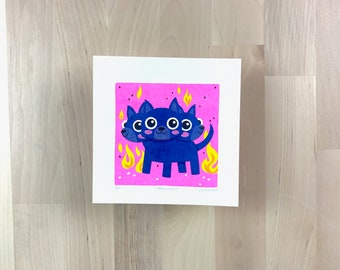 Hellhound Limited Edition Mini Risograph Print