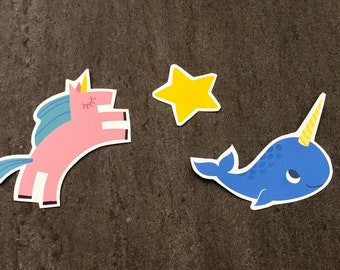 Horn Magic Hand-cut Paper Sticker Pack