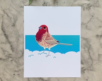 House Finch | 8x10 Original Art Print