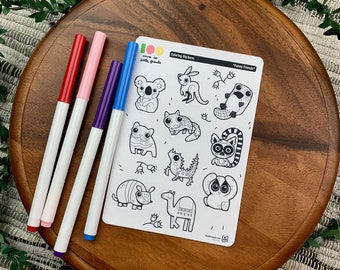 Funny Friends Coloring Stickers | Paper Sticker Sheets