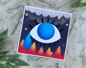 Witchy Evil Eye | Art Print