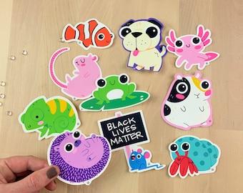 Pet Friends Waterproof Matte Vinyl Stickers