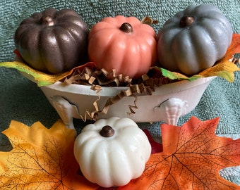 Pumpkin Soap Set - Mini pumpkins, Fall, Autumn, Halloween, Decorative Soaps, Thanksgiving gifts,Pumpkin, Party Favors