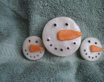Snowmen Soap Set - Snowman Faces,Holiday Soap, Party Favor, Snowman,Package Topper, Teacher gifts, Snowman, Snow, Winter