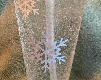Snowflake Soap Pump Bottle -Liquid Soap Pump Liquid Soap Hand Soap Decorative Soap Pump Housewarming Bathroom Powder Room Decor Kitchen Soap