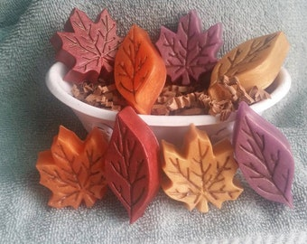 Leaf Soap Set - Fall Soap, Leaf, Fall Leaves, Autumn, Fall Weddings, Bridal Showers, Guest Soaps, Party Favors, Housewarming, Gift Ideas