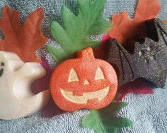 Halloween Soap Set - Halloween Soap, Ghost, Bat, Pumpkin,Party favor,Tween gift, Birthday gift, Teacher, Kid's Soap, Decoratve Soap