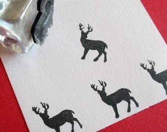 Buck Deer Rubber Stamp