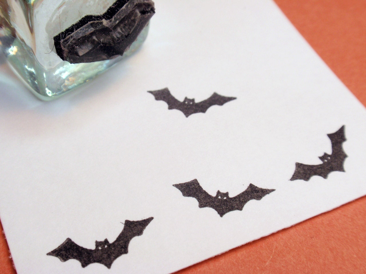 Bat Rubber Stamp Handmade Stamps By BlossomStamps