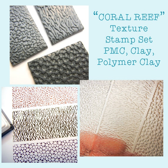 Nature B Set Polymer Clay Texture plates 5 Patterns