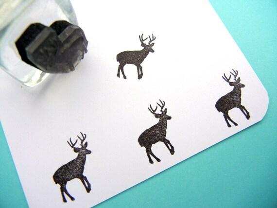 Buck V2 Deer Rubber Stamp Handmade Stamps By