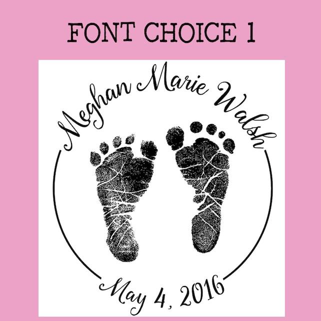 Huella del bebé personalizado o sello de goma de Handprint | Etsy