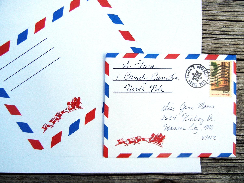 ENVELOPE TEMPLATE Letter from Santa Christmas Instant Digital | Etsy