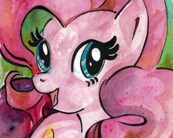 Nursery Art Print - Pinkie Pie Print of Watercolor Painting - My Little Pony Friendship is Magic - My Little Pony Art - Pinkie Pie Fan Art