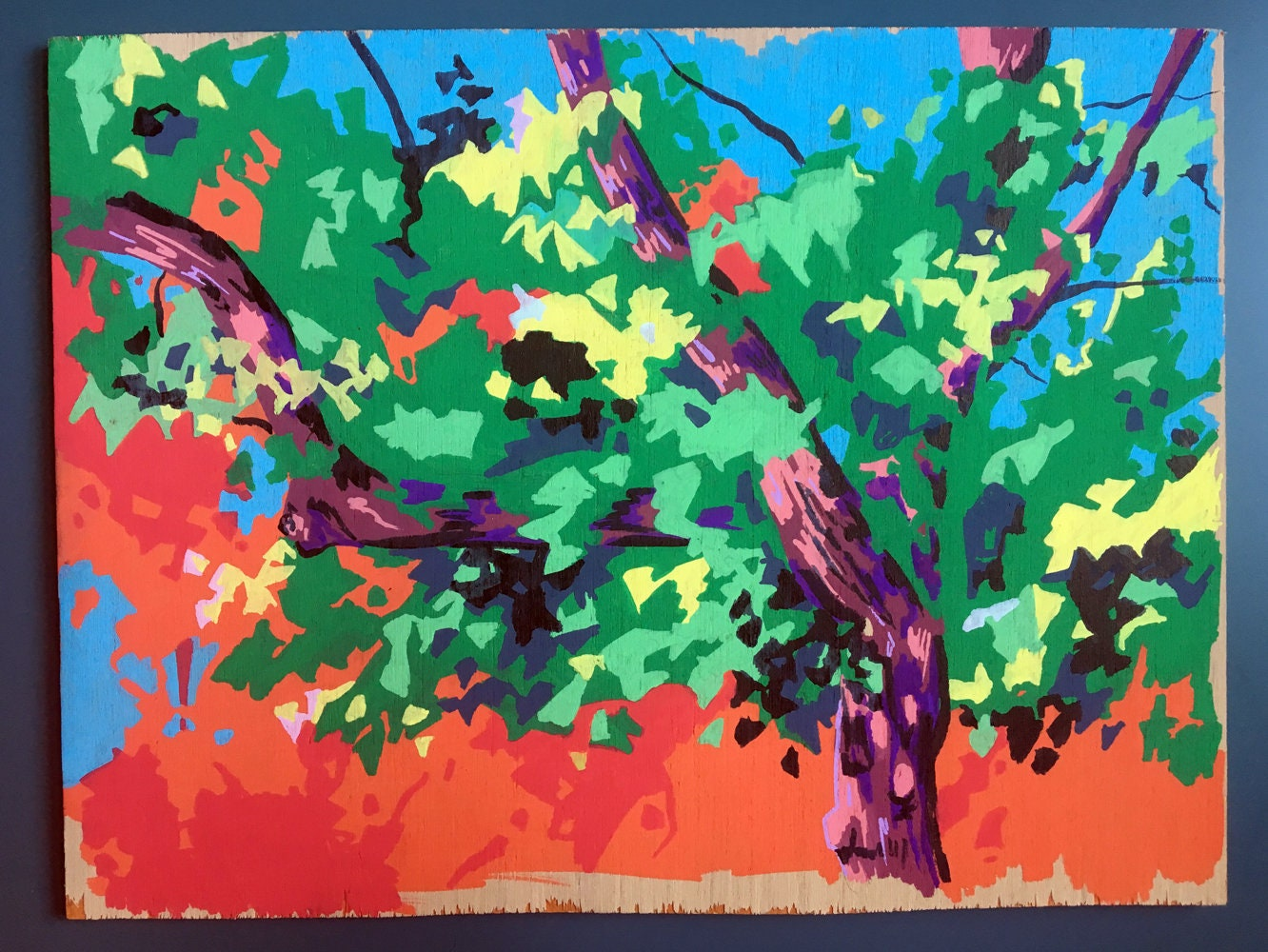Tree Painting Abstract - Original Painting on Wood - Paintings of ...