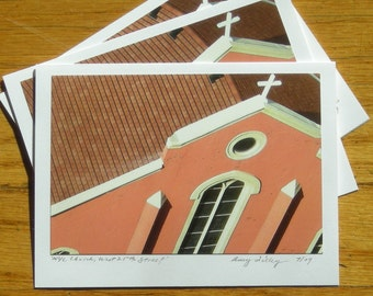 NYC Church, West 25th Street, Photo Art Card