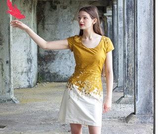 Adorn Gold Cotton Lawn Women's Dress