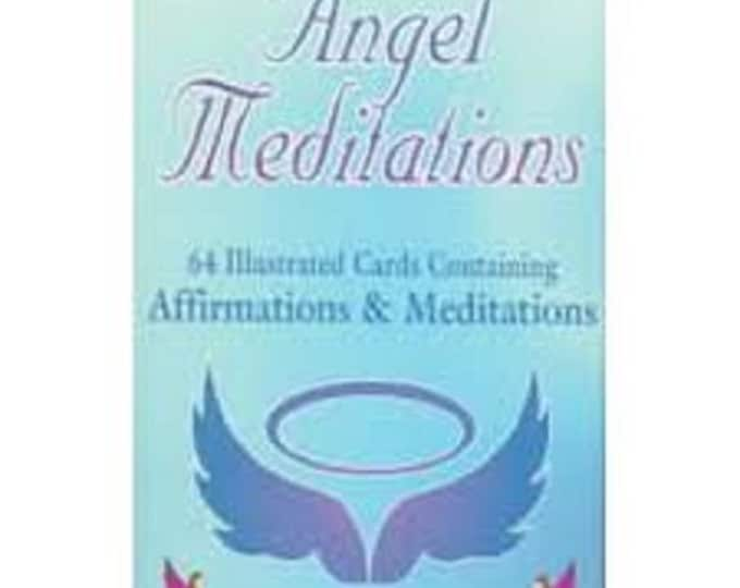 Angel Meditation: 64 Illustrated Cards Containing Affirmations & Meditations