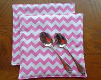 Pink Chevron Hot Pads, Chevron Hot Pads, Hot Pads, Pink Chevron Pot Holders, Chevron Pot Holders, Pot Holders, Kitchen Hot Pads