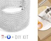 DIY Bracelet kit - Silver Bracelet KIT