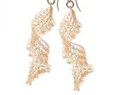 Gold drop earrings, Threader earrings, Long earrings, Long gold earrings, Gold statement earrings, Statement earrings, Gold dangle earrings
